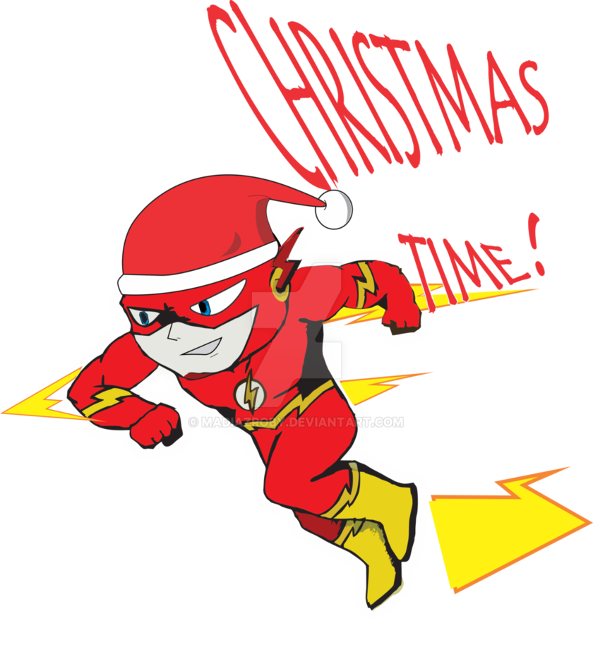 clipart black and white download Superhero The Flash Christmas by MadiazRoby on DeviantArt