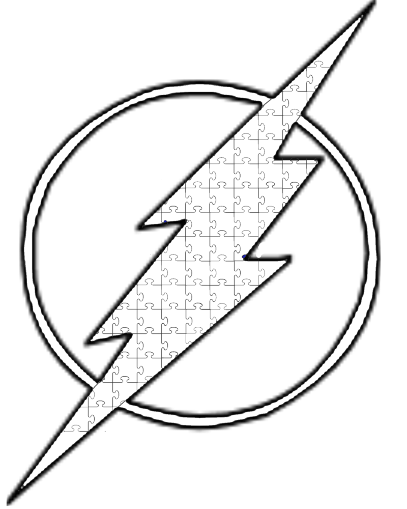 vector royalty free Drawing flash. Autism symbol lineart by