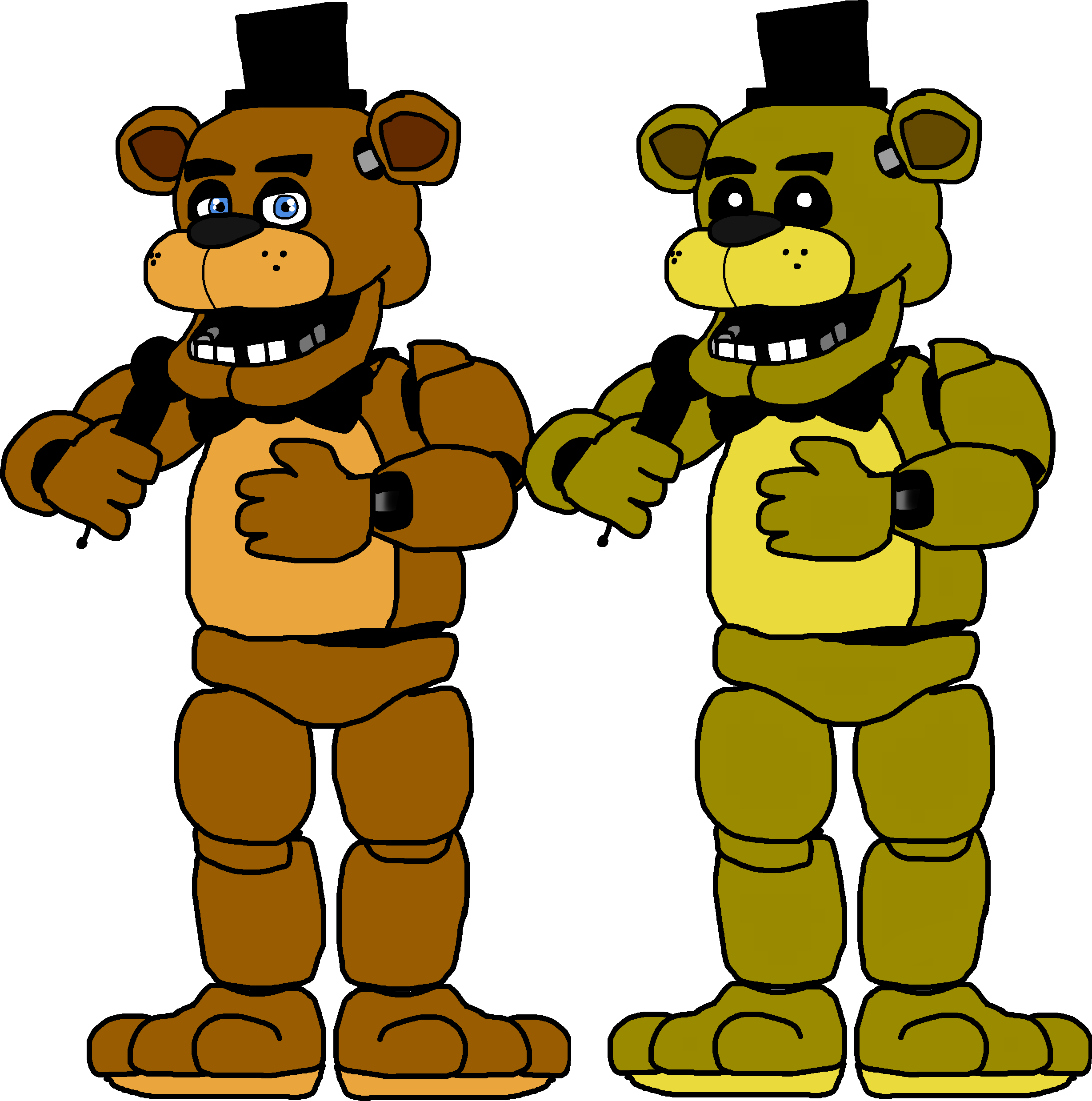 png library stock I made these full bodied drawings of both Golden Freddy and Freddy
