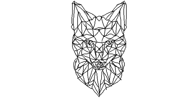 clip royalty free library drawing foxes abstract #111845429