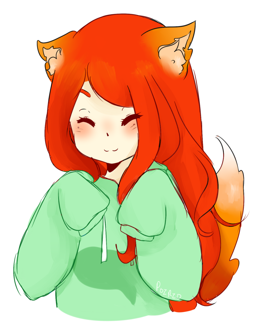 banner library drawing foxes female #111843507