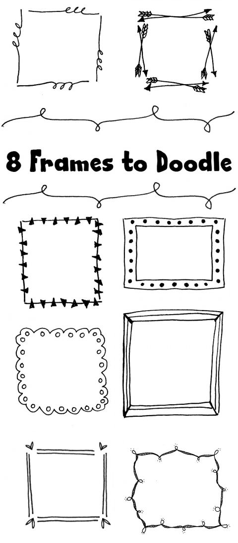 clipart royalty free library  hand drawn to. Drawing frames