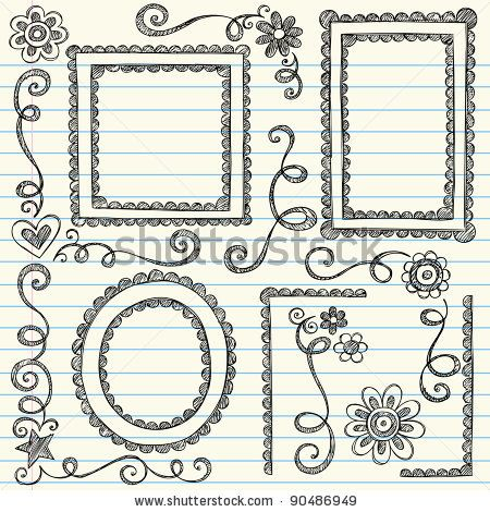 image freeuse stock Drawing frames. Easy to draw border