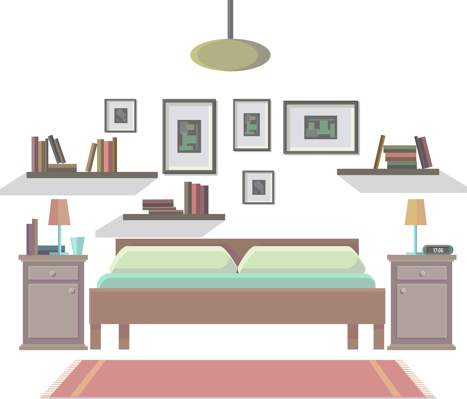 graphic library stock Bedroom Drawing Furniture