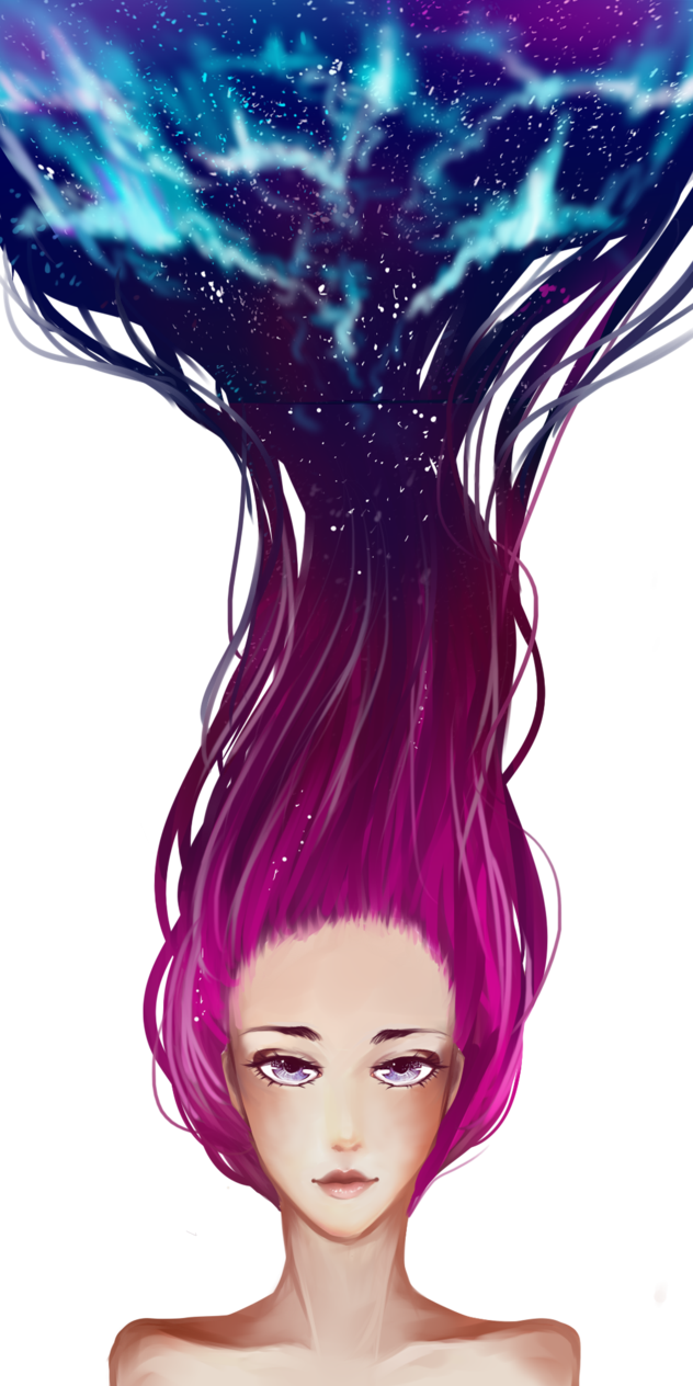 picture freeuse download Galaxy hair by tea