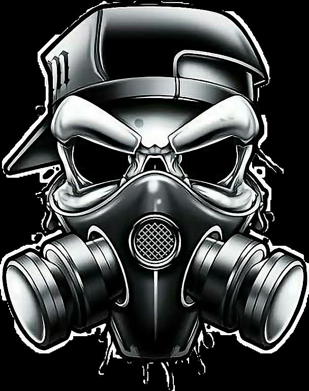 clip art transparent graffiti skull gangster
