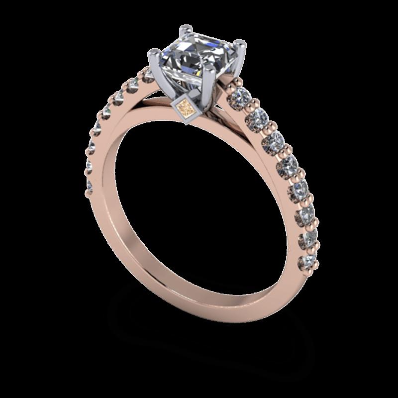 svg Transparent ring rose gold. Custom rings durham kt