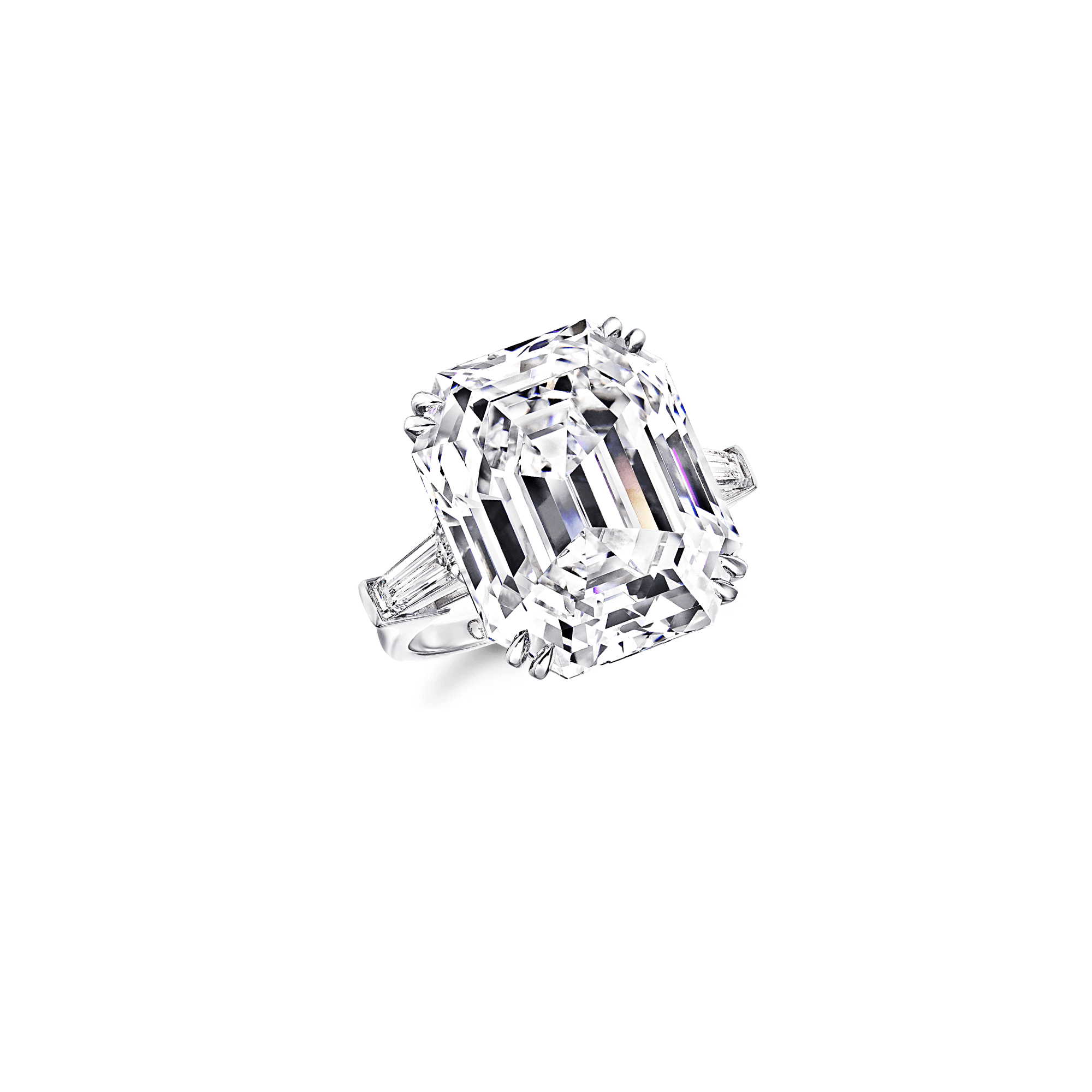 clip free download Emerald Cut Diamond Ring
