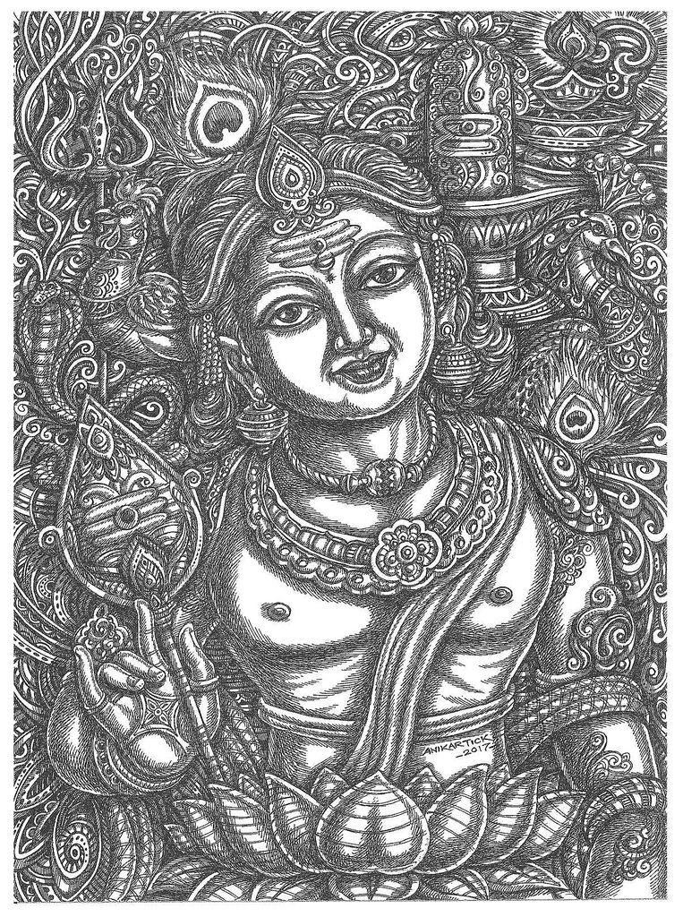 graphic free stock Drawing god. Murugan art
