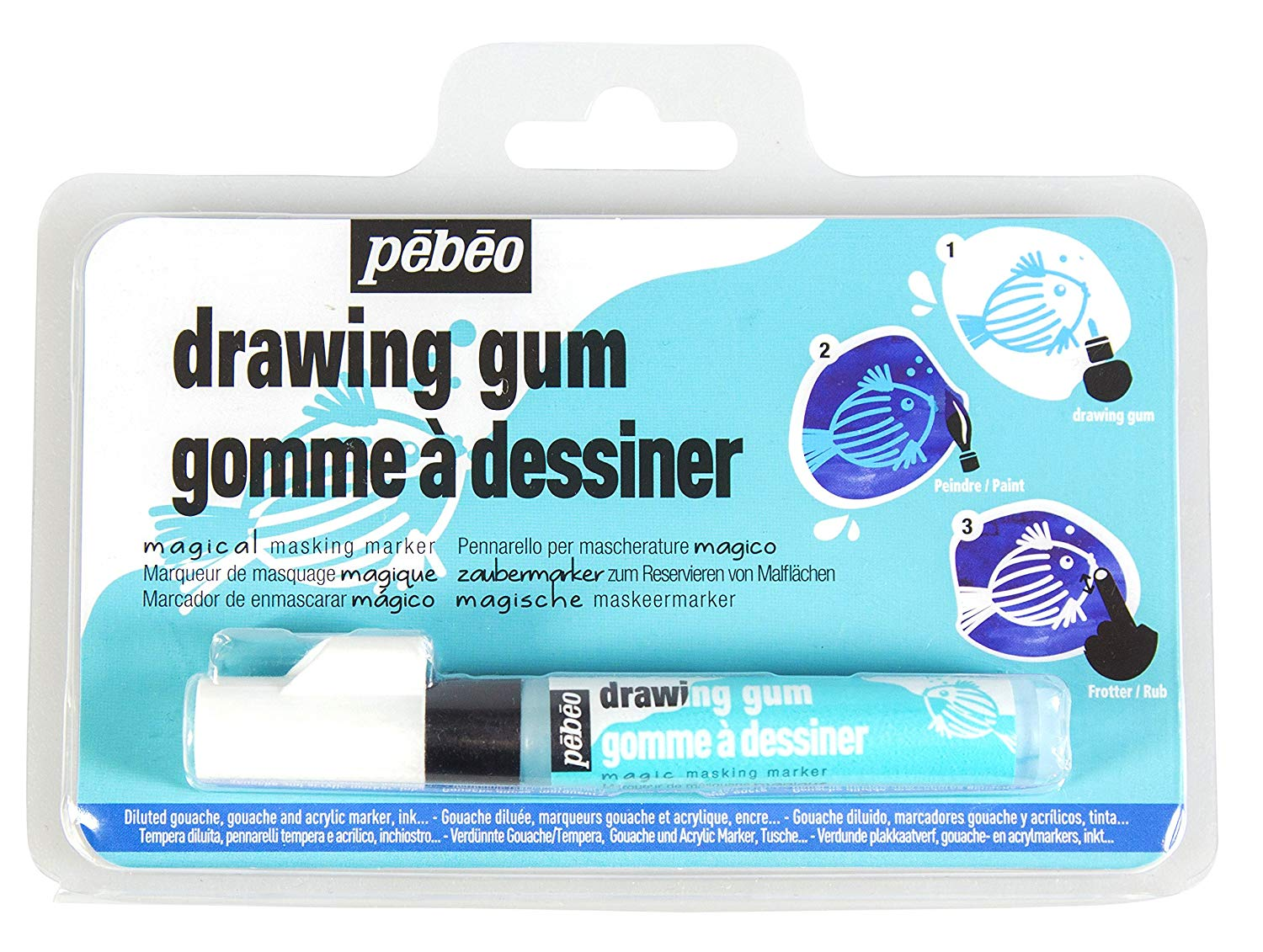 banner black and white library Pebeo magic marker for. Drawing gum.