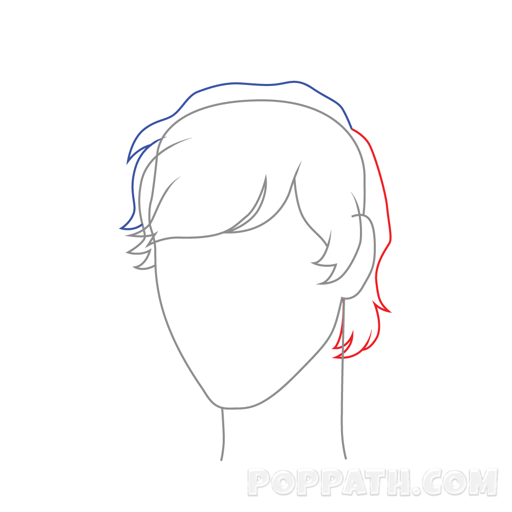 clip art freeuse download How To Draw Male Hairstyle