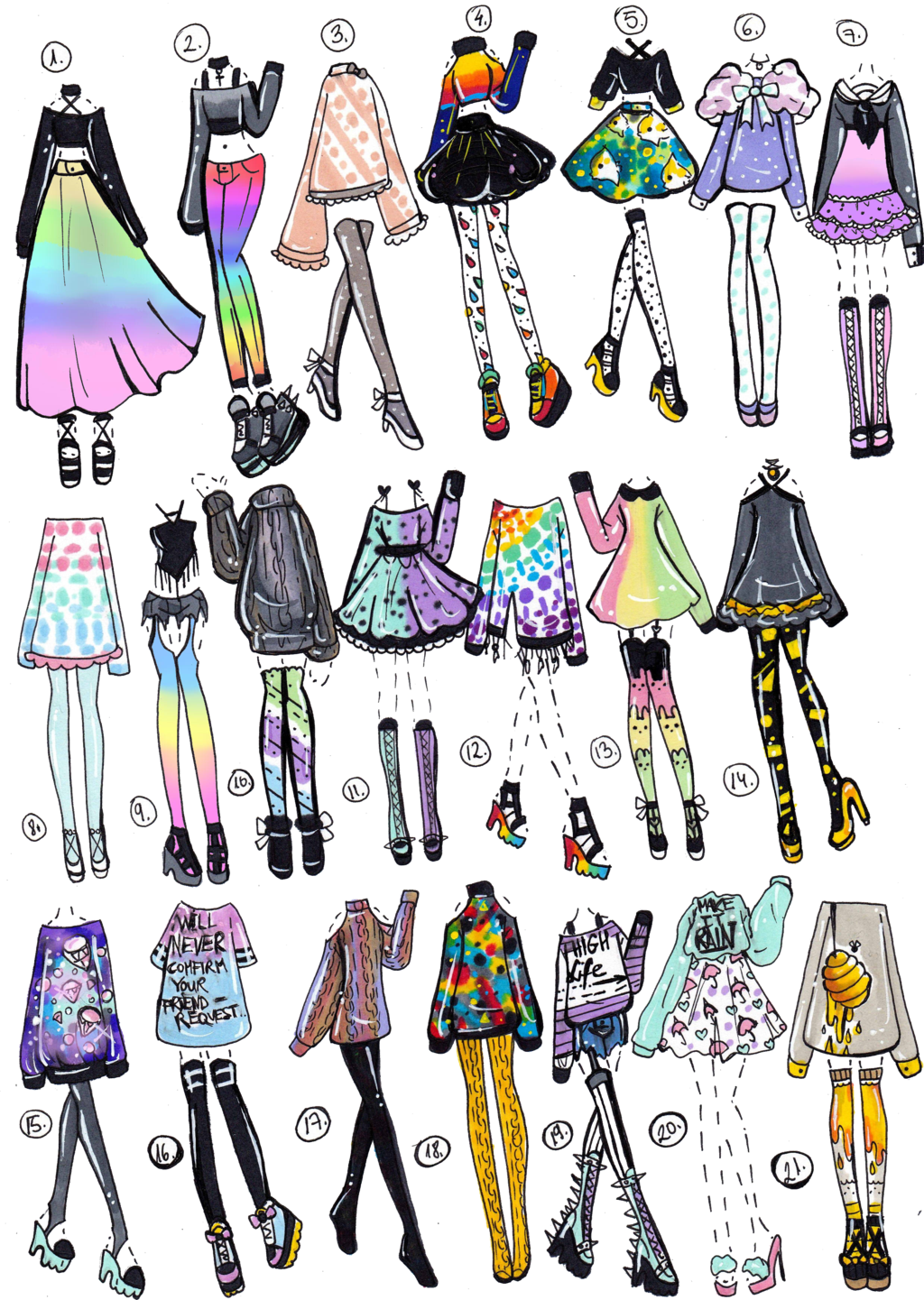 banner library stock Drawing random clothing. Closed pack by guppie