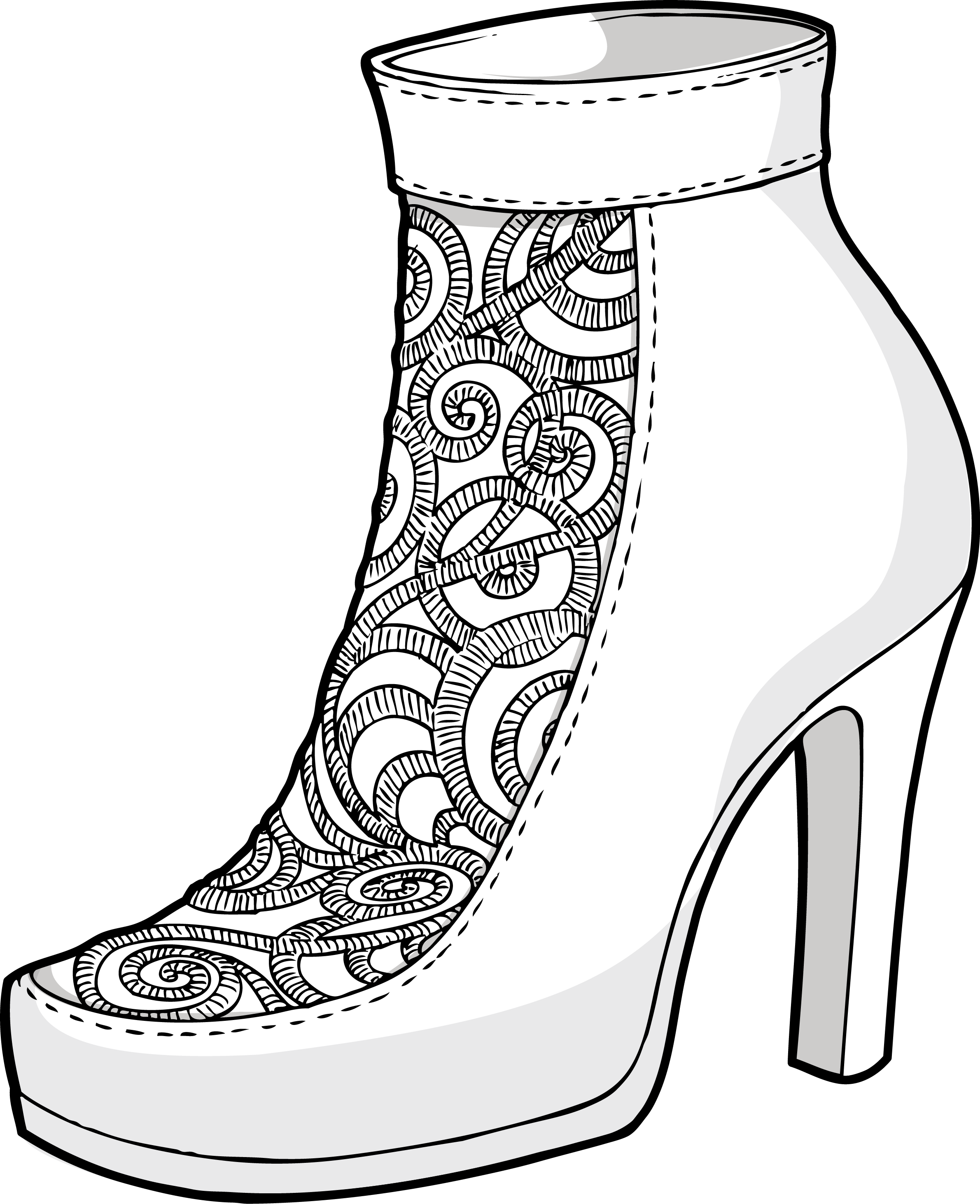 svg freeuse Luxurious embroidery shoes