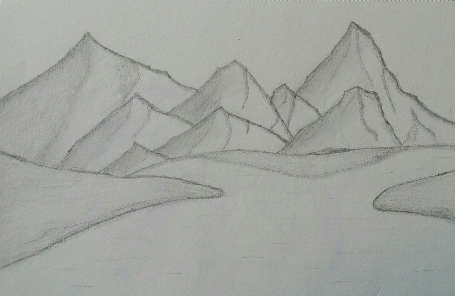 clip art download Landscape with mountains and. Drawing hills