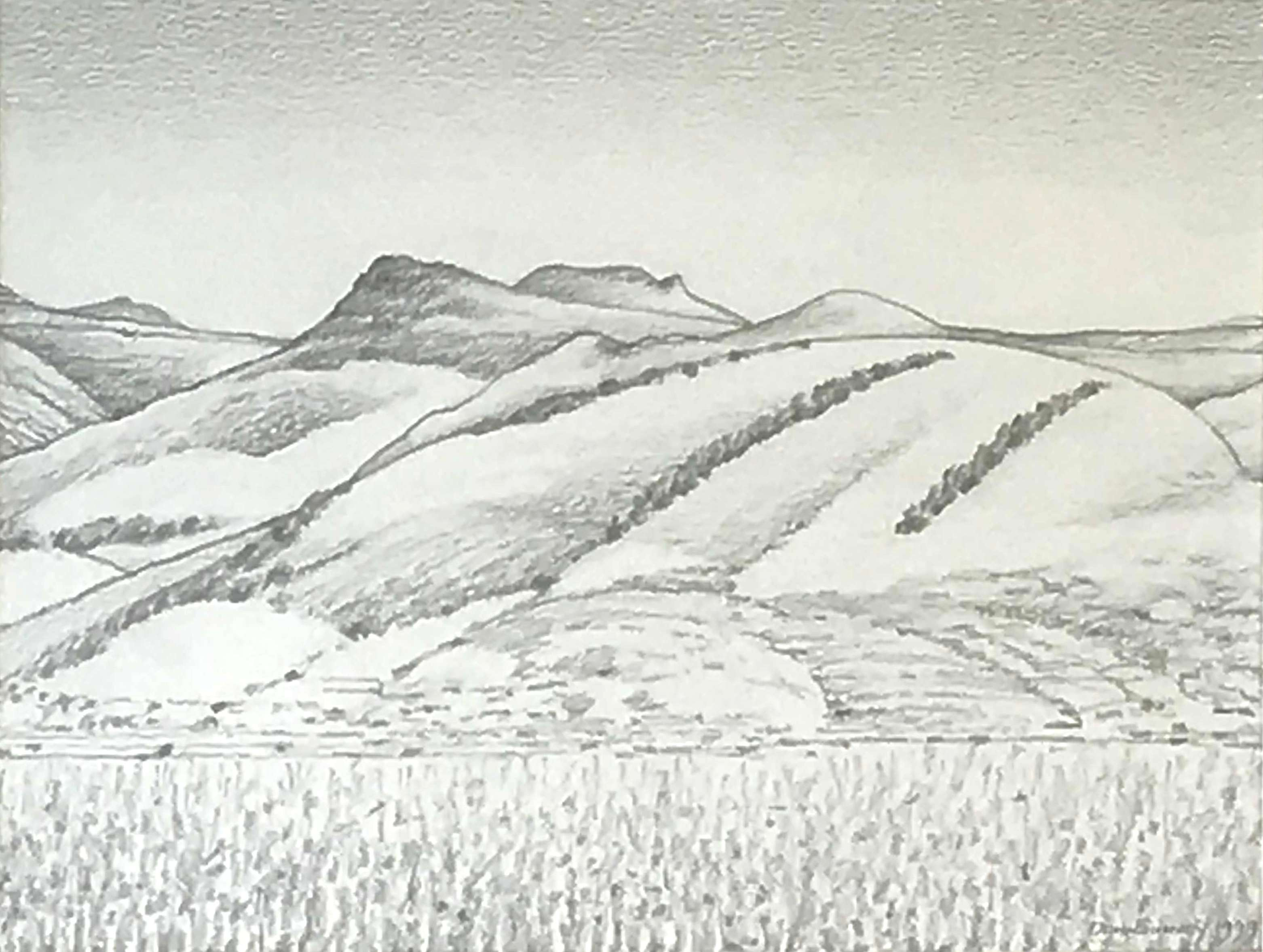 black and white Drawing hills. Hill at paintingvalley com