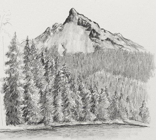 picture royalty free library Drawing hills. Landscape basics with claudia
