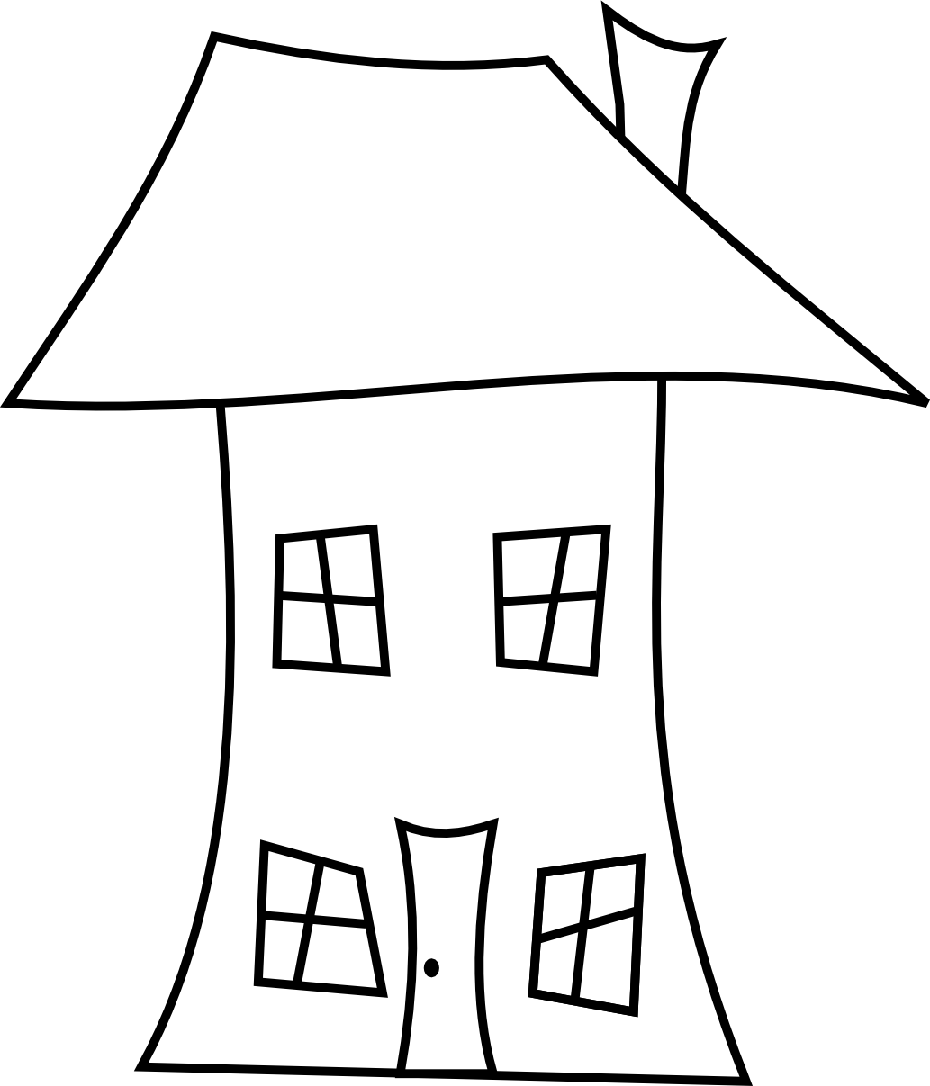 jpg free library House Line Drawing ClipArt Best