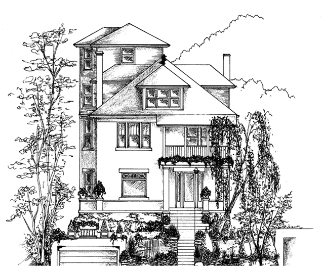 picture free stock House Drawing Building Home Sketch