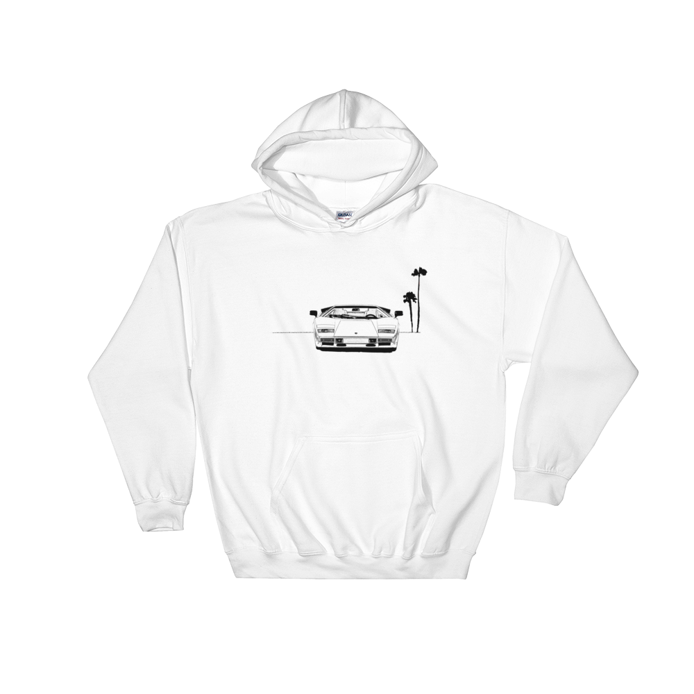 svg freeuse stock Countach Line Drawing Hoodie