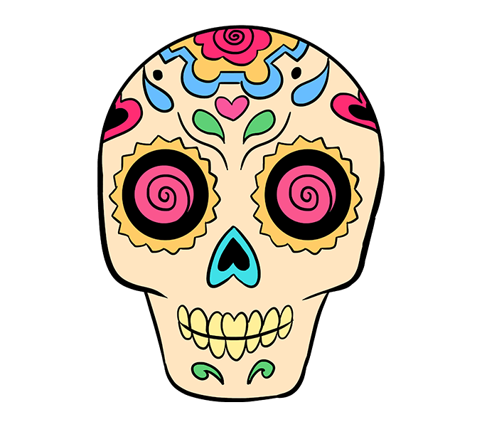 svg library library How to draw a. Drawing s sugar skull