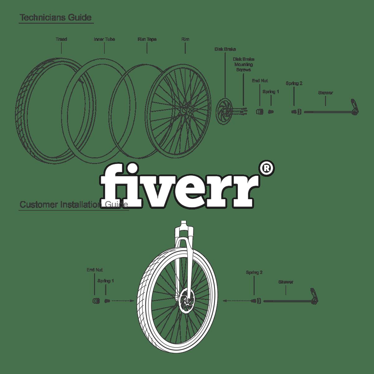 royalty free Draw a detail line. Drawing hub wheel