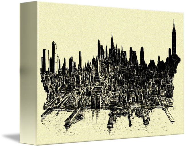 freeuse stock New york city by. Drawing cityscapes ink