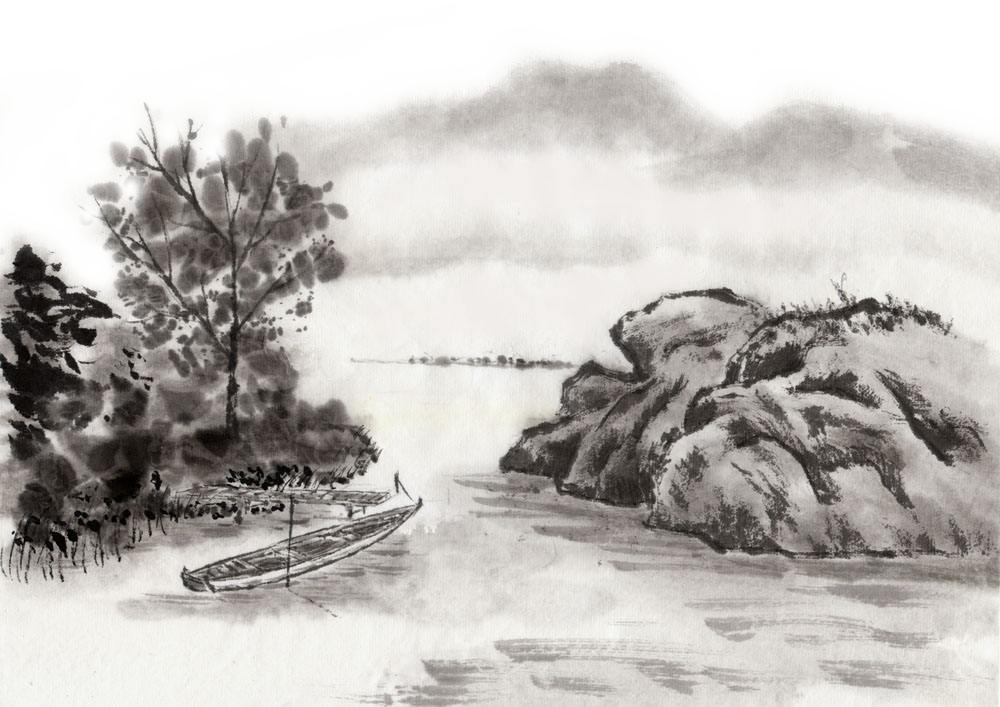 clip art stock Ink wash painting Landscape painting Chinese painting India ink