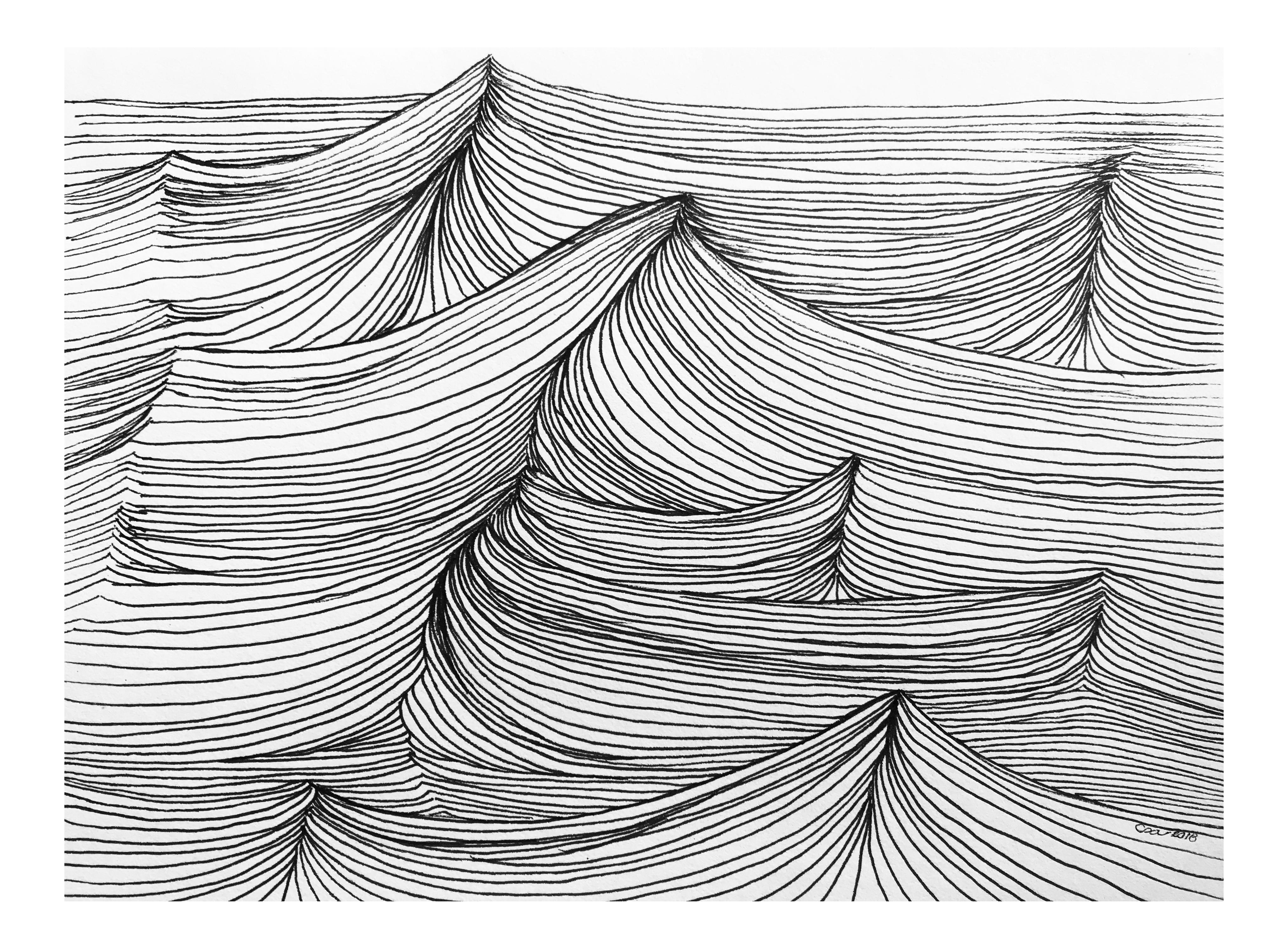 picture library download Original the sea ink. Bananas drawing pen
