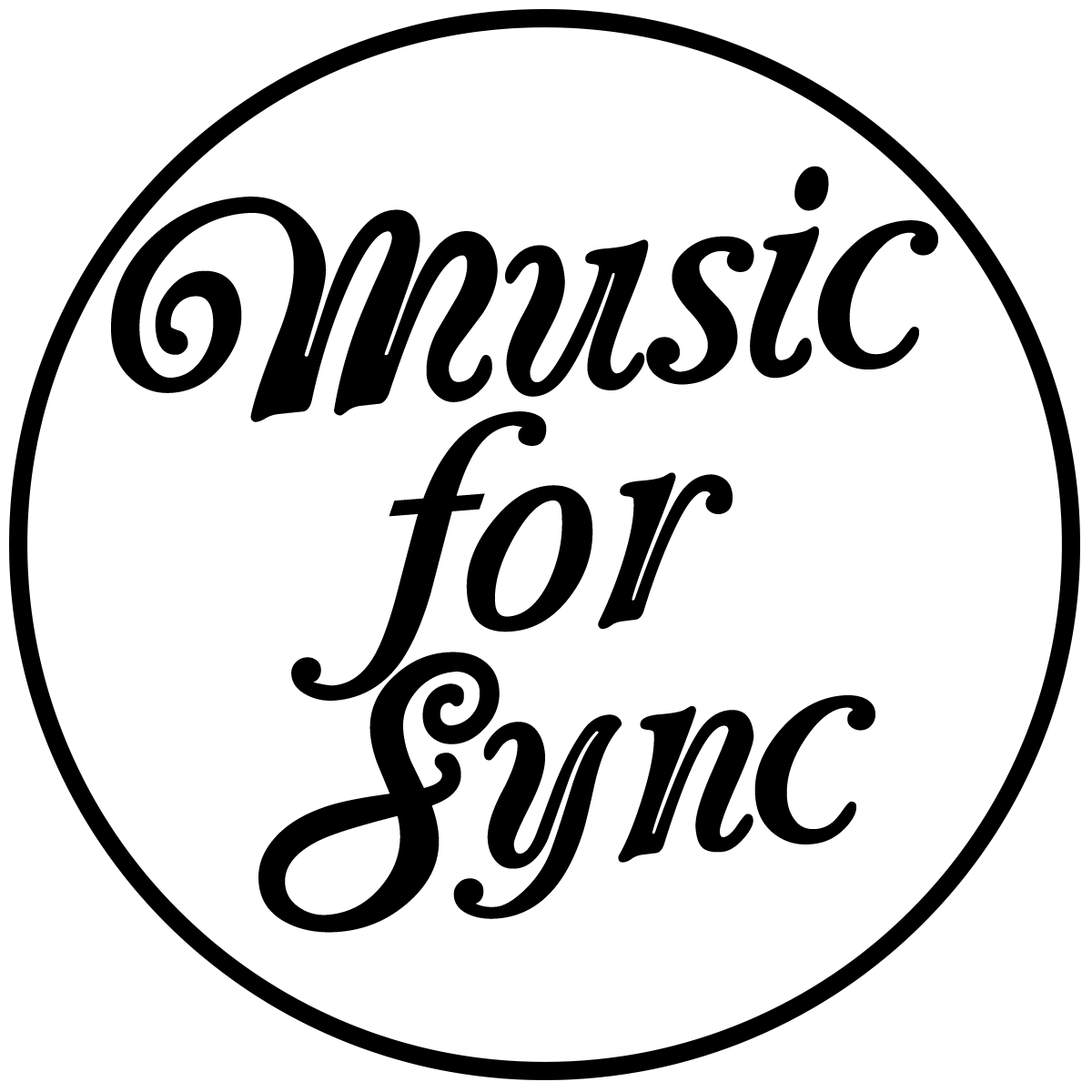vector black and white library Music For Sync