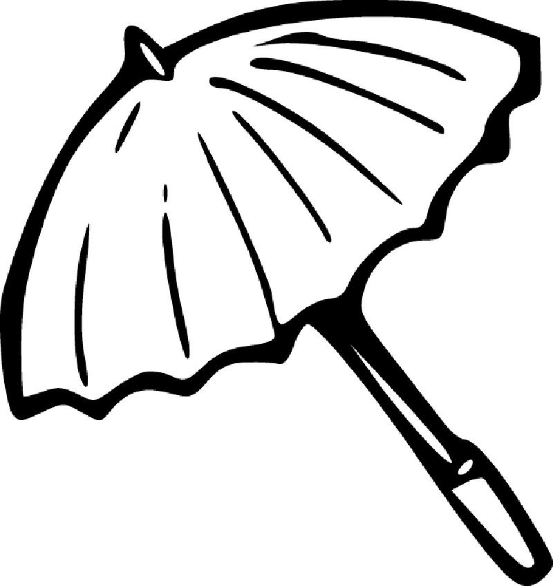 clip freeuse library Rain Umbrella Drawing at GetDrawings