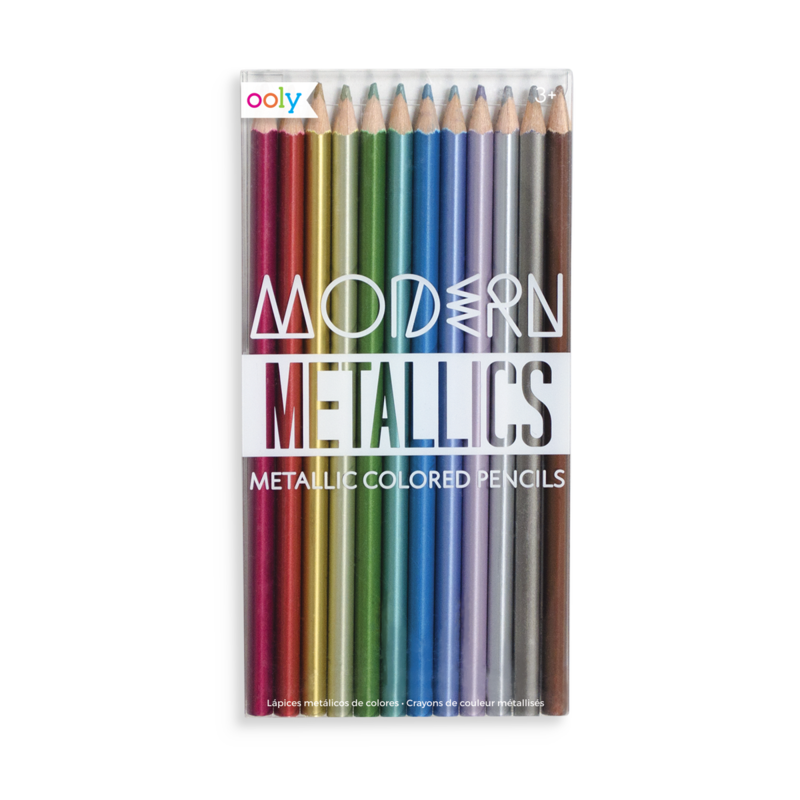 clip library stock Modern Metallics Colored Pencils