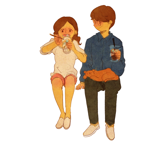 png transparent library drawing instagram couple #94348662