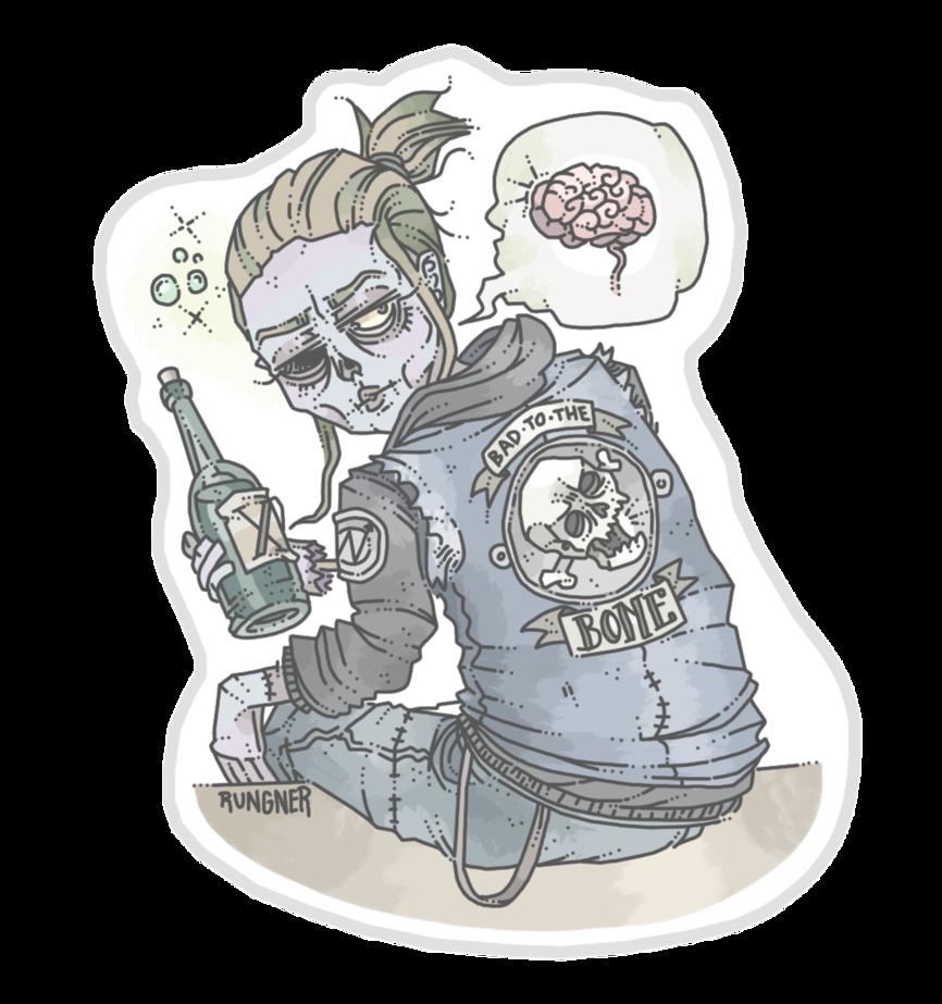 clip art transparent library Zombie Punk