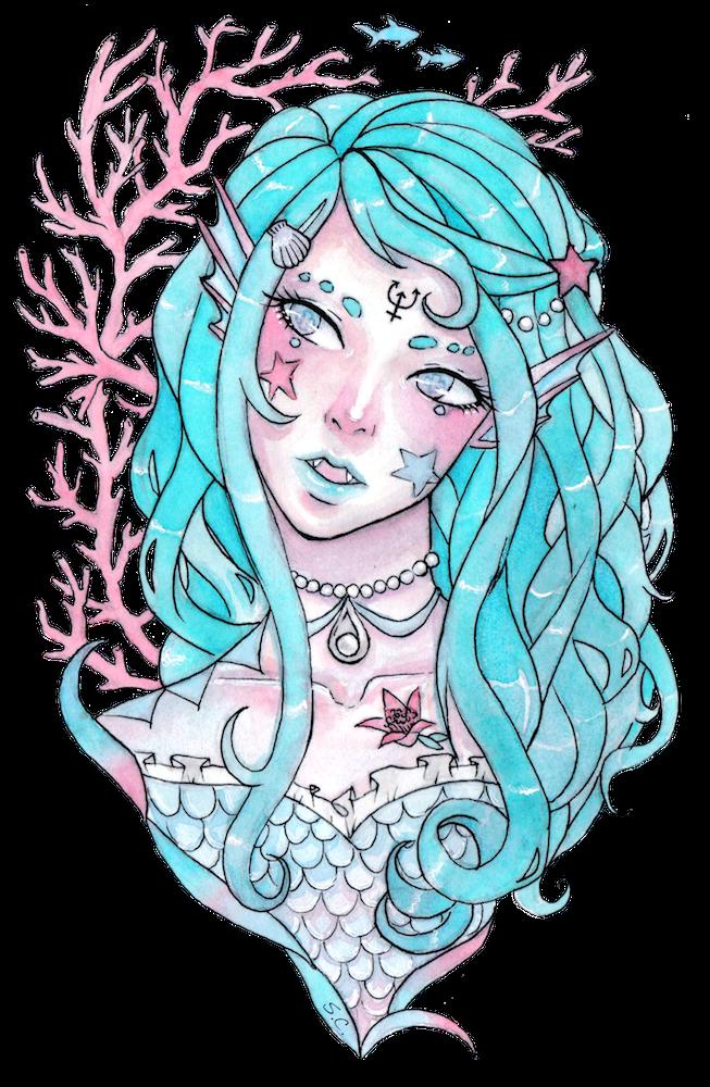 clip art royalty free Aqua Mermaid