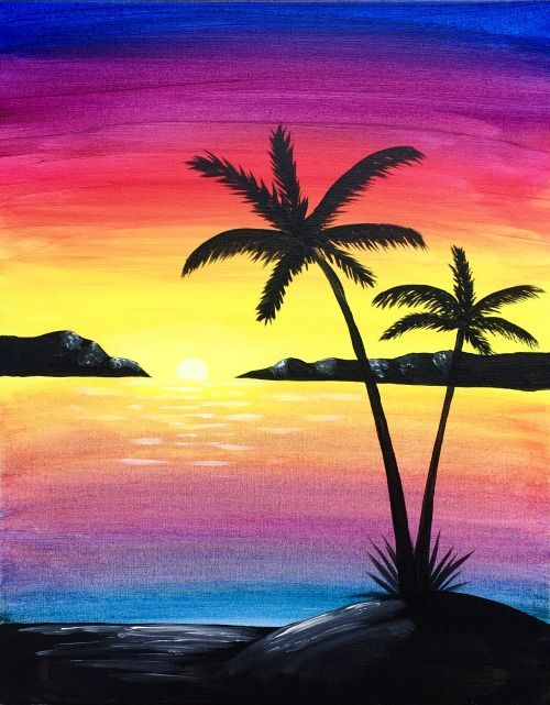 graphic download Bucket list in watercolor. Drawing island paradise