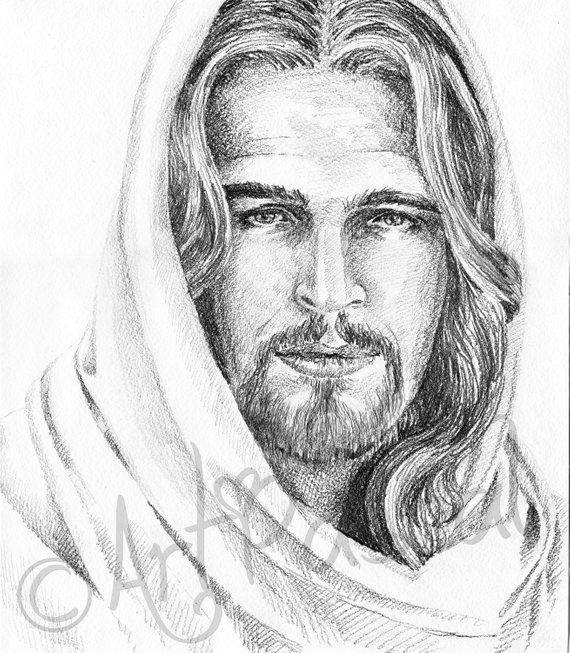 image transparent Christ portrait printable black. Drawing jesus