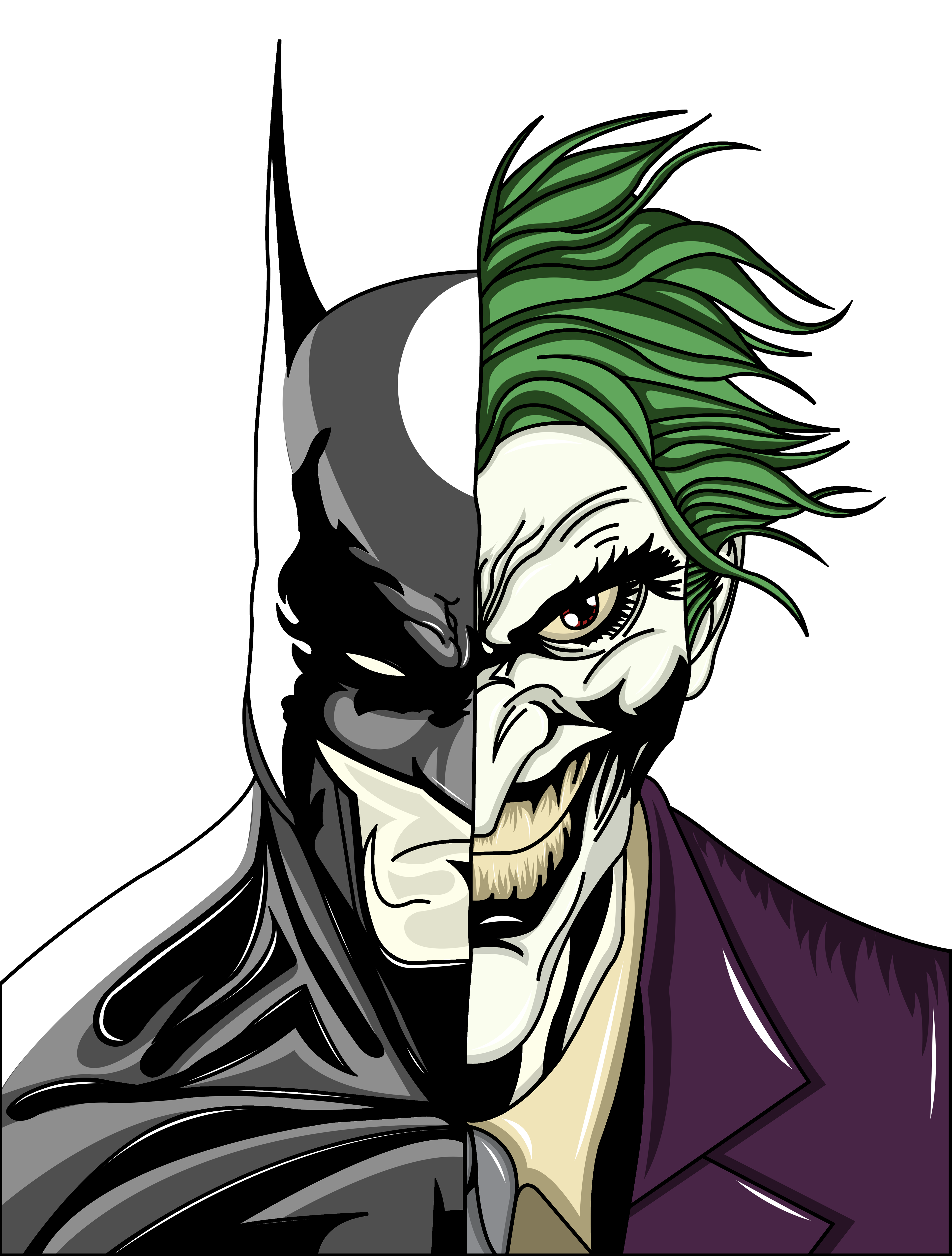 image free stock Batman And Joker Drawing at GetDrawings