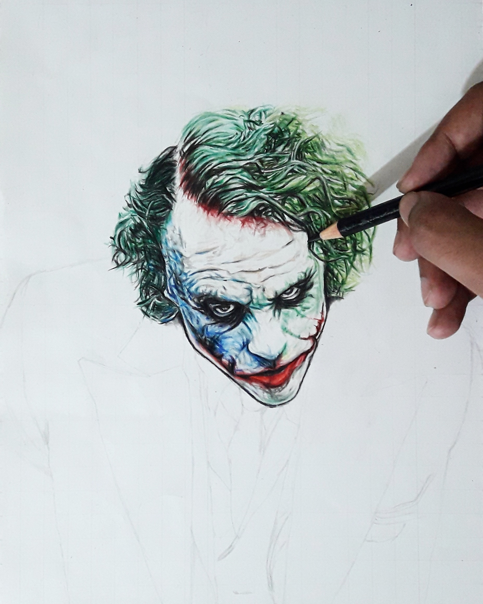 picture transparent Drawing jokers. New the joker work.
