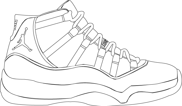 graphic freeuse Images of how to. Drawing sneakers jordan 11