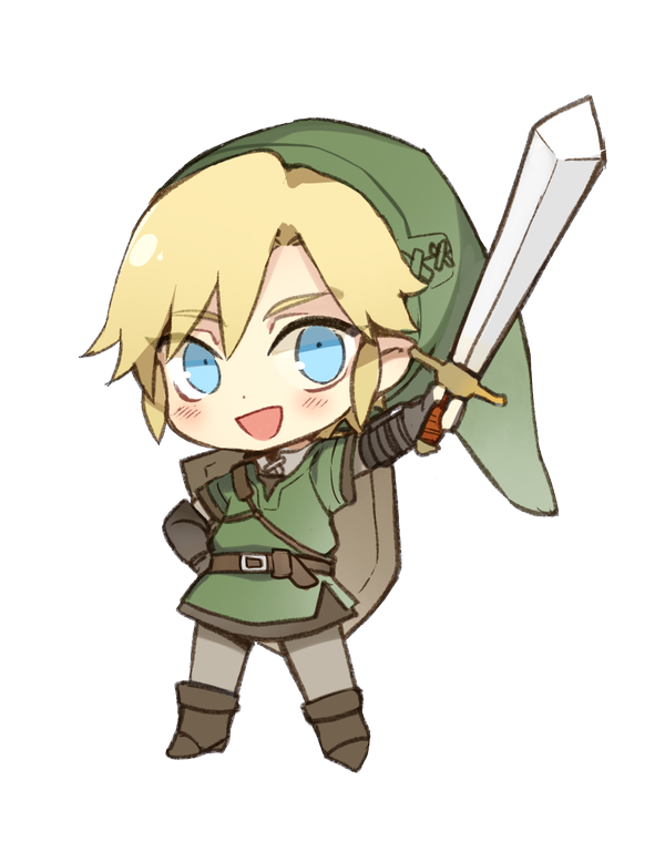 image freeuse Chibi link by rose. Valkyrie drawing cute