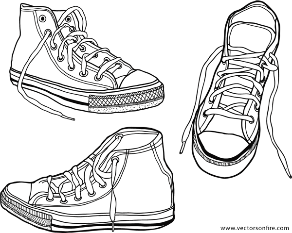 image download Collection of free download. Drawing sneakers tutorial