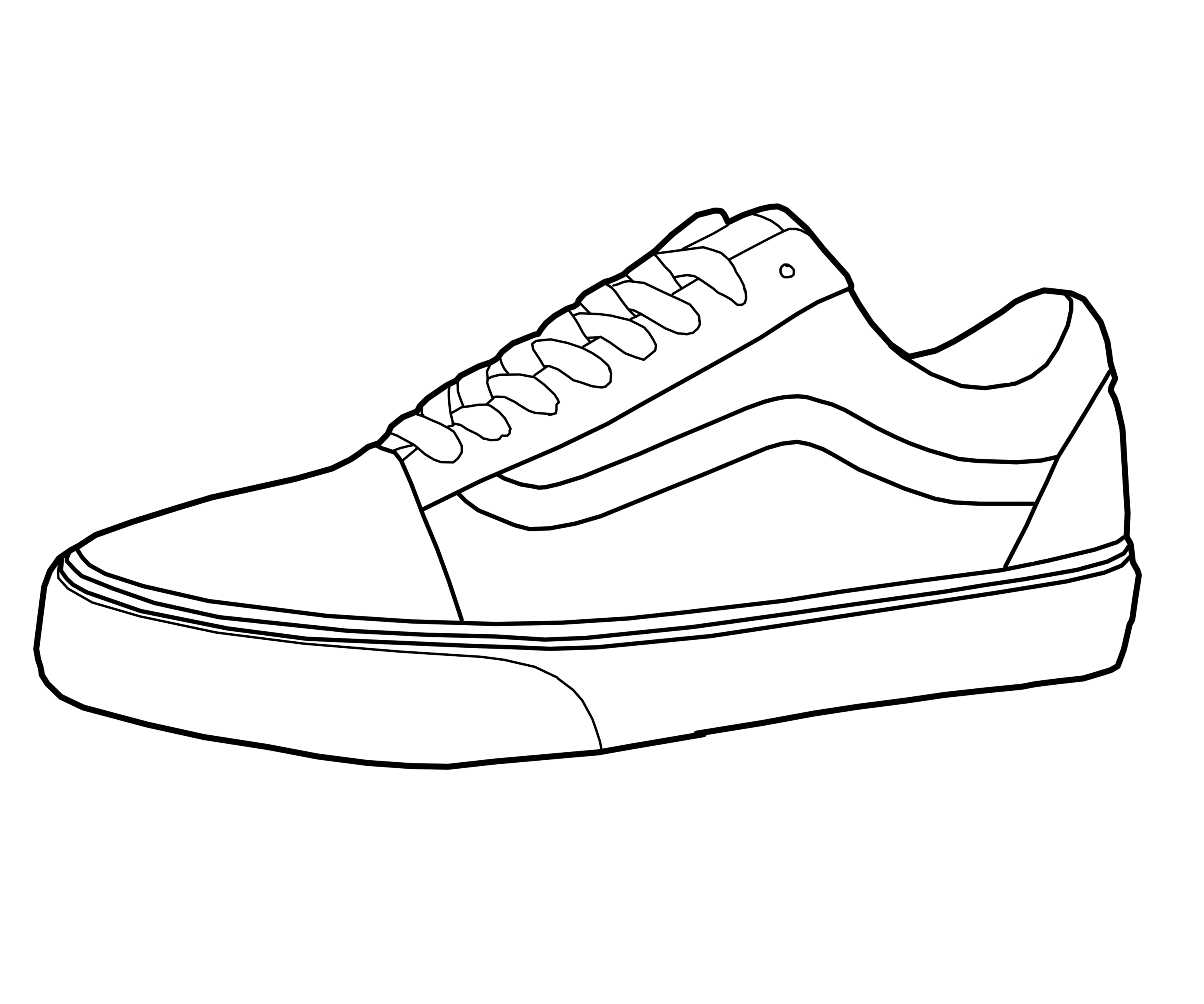 graphic black and white download Vans shoe drawings in. Drawing sneakers sneaker