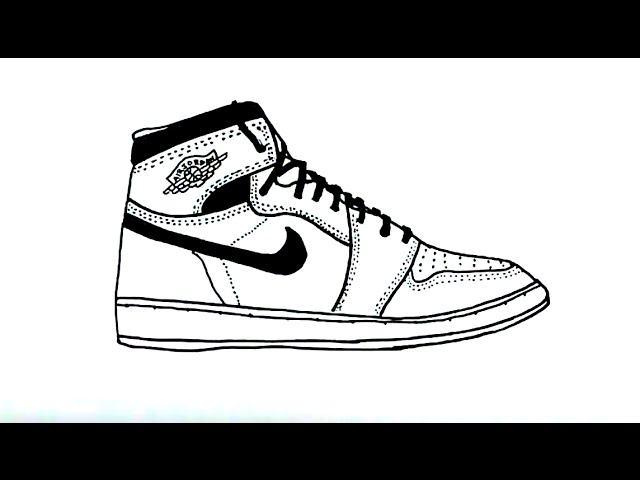 image library stock How to Draw an Air Jordan Shoe