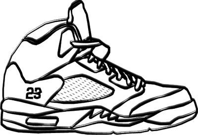picture  collection of jordan. Drawing sneakers easy