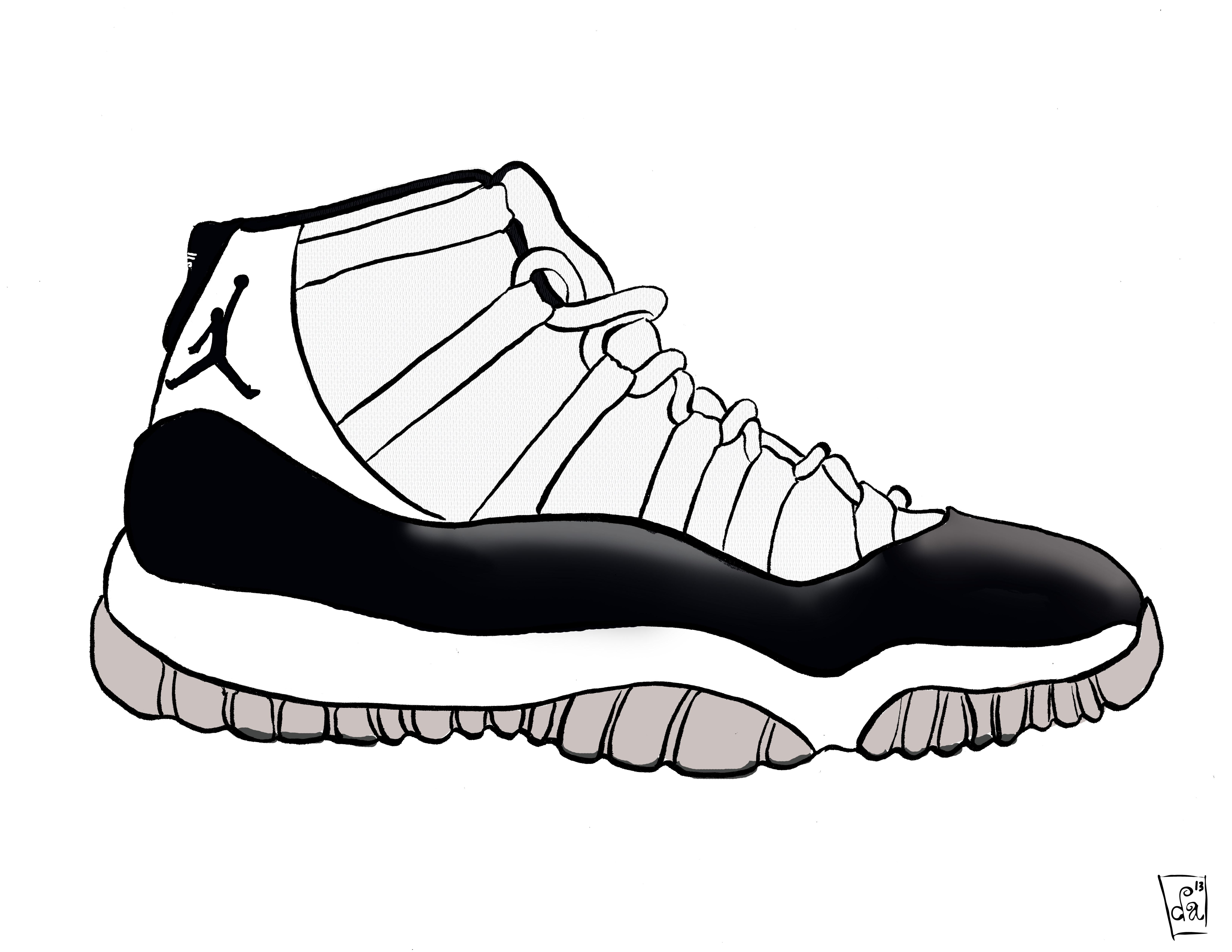 banner transparent Free download best on. Drawing sneakers jordan 11