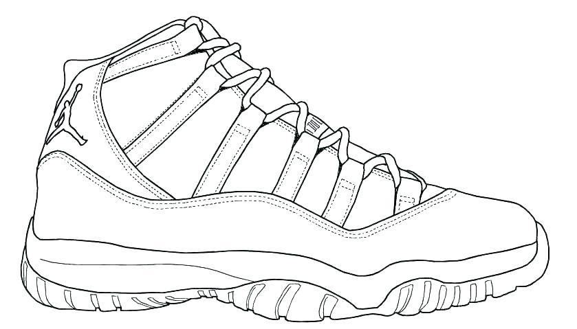 jpg transparent download Drawing sneakers jordan 11. Sketch at paintingvalley com