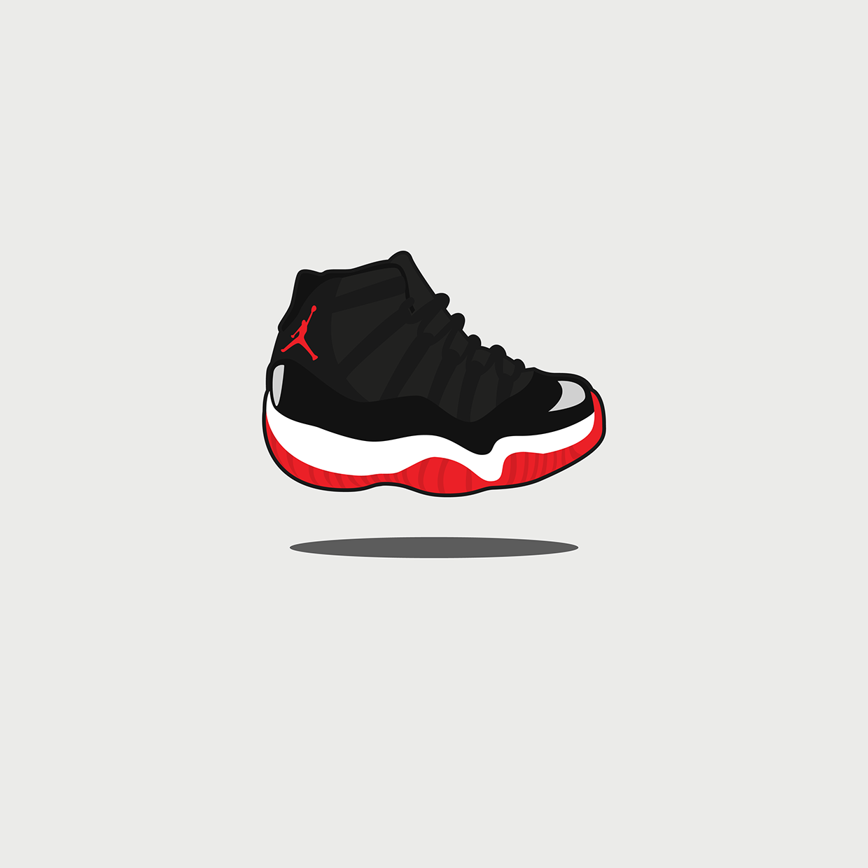vector freeuse stock Cute Sneaker Illustration