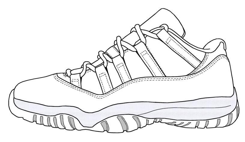 png library stock Pin on shoe designs. Drawing sneakers jordan 11