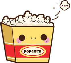 clipart freeuse download Kawaii popcorn