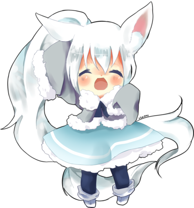 clipart free stock Commishie by puddinprincess on. Drawing kawaii arctic fox